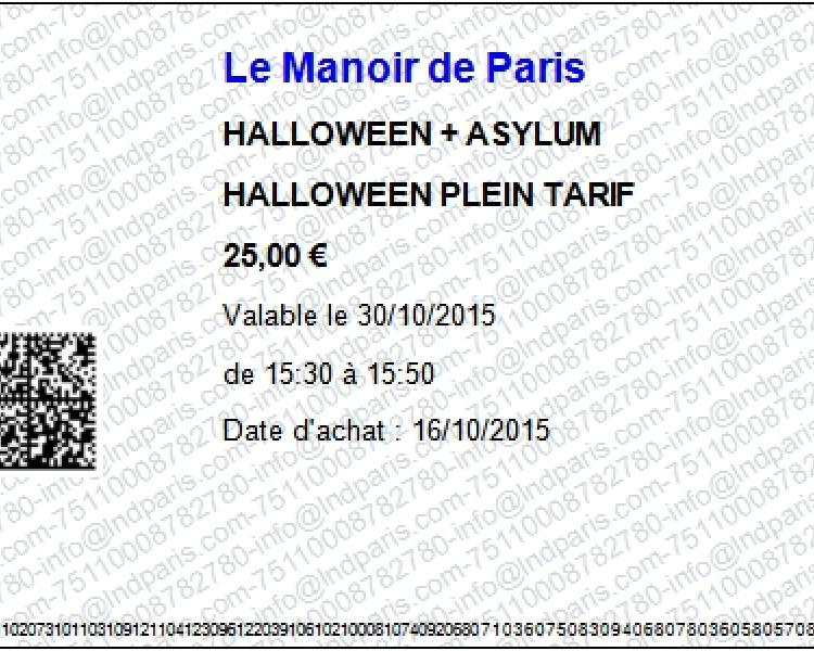 Билет в Мануар